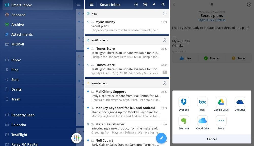 Spark disponible para iOS y Android