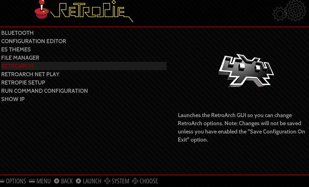 configuración inicial para montar una máquina arcade